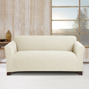 Stretch Morgan Box Cushion Loveseat Slipcover