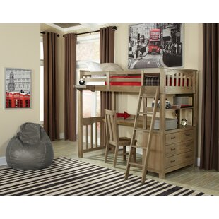 Buy luxury Stella Twin Loft Bed with Desk and Chair Set By Grovelane Teen