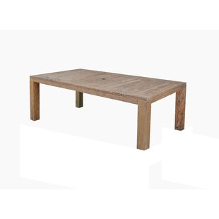 Pleasant Avenue Reclaimed Outdoor Teak Dining Table by Rosecliff Heights