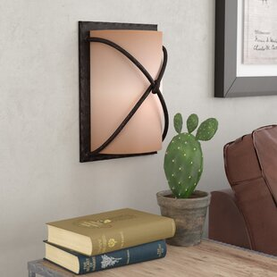 Best Reviews Gironde 1-Light Rectangular Wall Sconce By Loon Peak