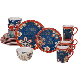 Krahn 16 Piece Dinnerware Set, Service for 4