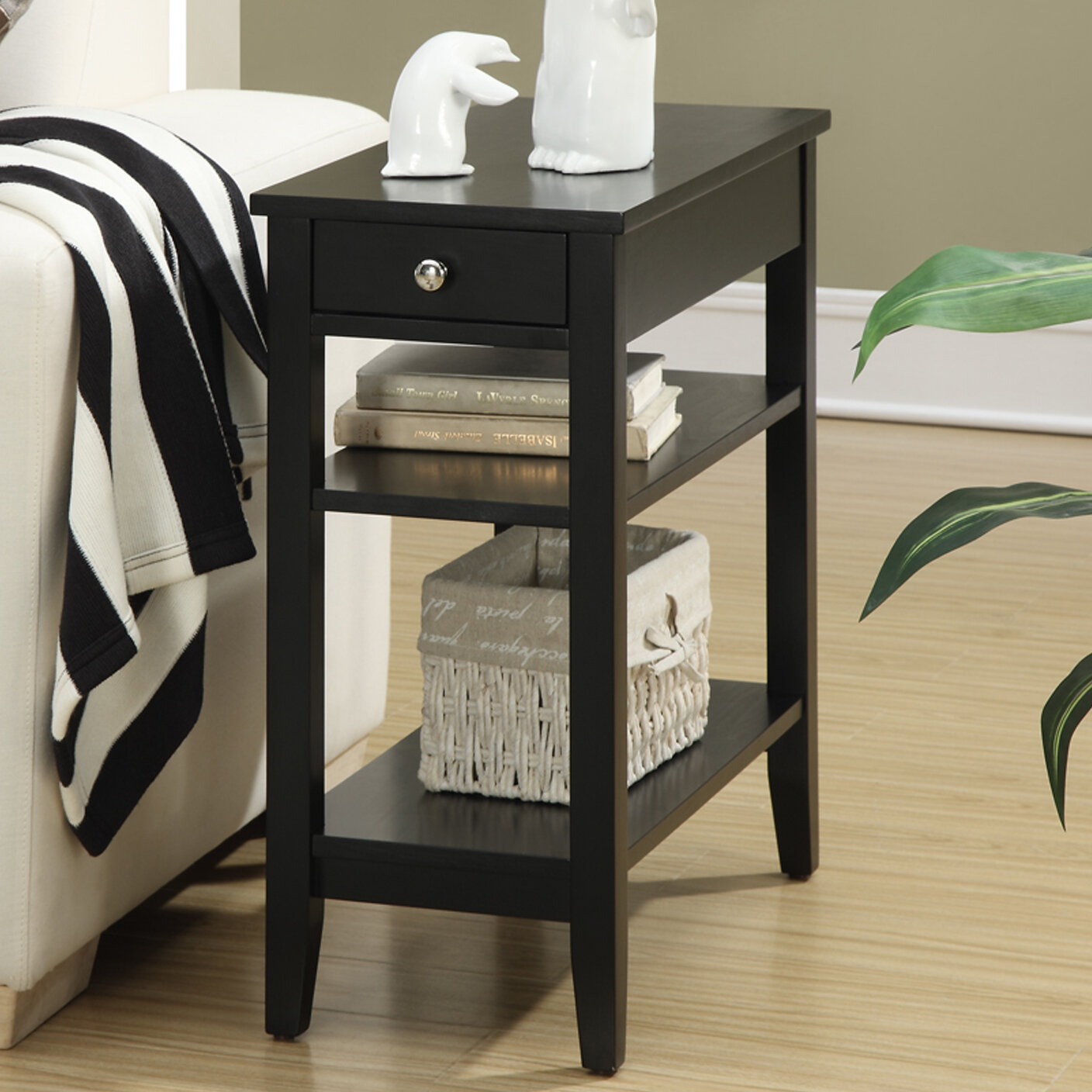 Three Posts Greenspan End Table With Storage U0026 Reviews | Wayfair