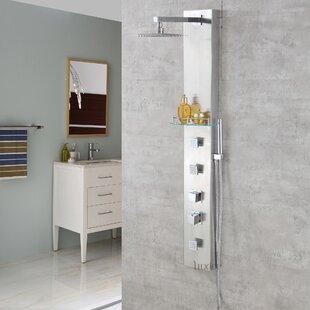 Luxier Shower Panel Diverter/Thermostatic Adjustable Shower Head - with Valve