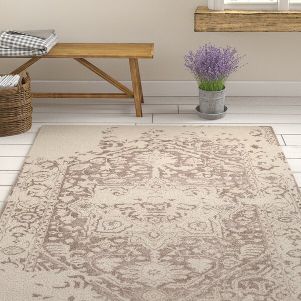 One Allium Way Ruiz Oriental Handmade Tufted Wool Beige Area Rug Reviews Wayfair