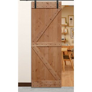 Paneled Wood Unfinished American Barn Door Without Installation Hardware Kit