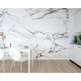 "Kirksey Marble 9'10"" L x 94"" W 6-Panel Wall Mural"