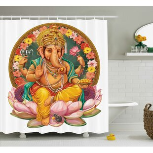 Jardine Indian Elephant Single Shower Curtain