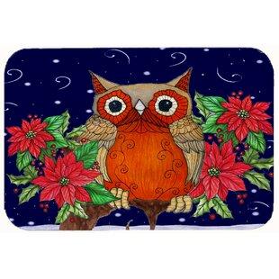 Whose Hy Holidays Owl Kitchen Bath Mat