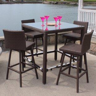 ElanaMar Designs Sonoma 5 Piece Bar Height Dining Set