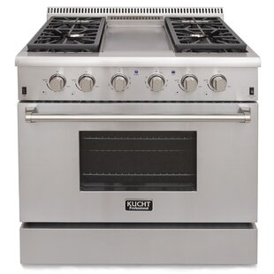 Professional 36 Free-standing Gas Range with Griddle by Kucht