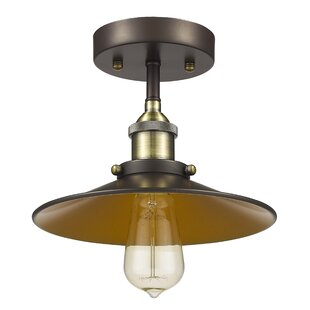 Bouvet 1-Light Semi Flush Mount by Laurel Foundry Modern Farmhouse