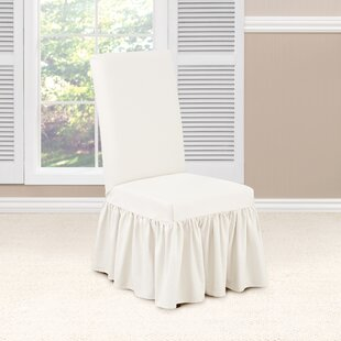 Essential Twill Box Cushion Dining Chair Slipcover