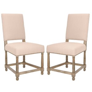 Elijah Upholstered Dining Chair (Set of 2) by Safavieh