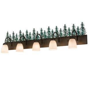 Loon Peak Zager Tall Pines 5-Light Bath Bar