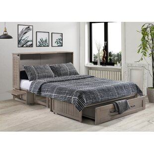 Mata Queen Storage Murphy Bed with Mattress by Breakwater Bay