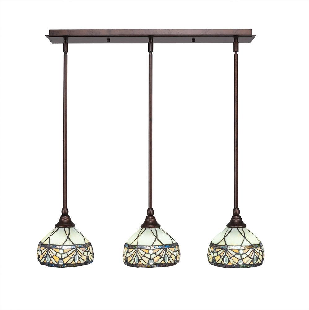 Astoria Grand Ratchford 3 Light Kitchen Island Bell Pendant Wayfair