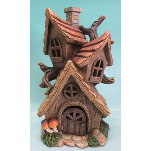 Polyresin Tri House Fairy Garden by Hi-Line Gift Ltd.