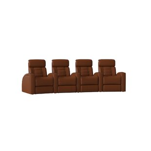 Diamond Stitch Home Theater Row Curved Seating (Row of 4) by Latitude Run