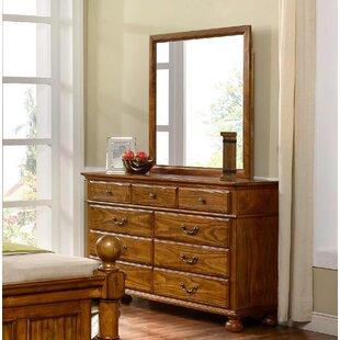 Hoisington 9 Drawer Dresser with Mirror by Alcott Hill