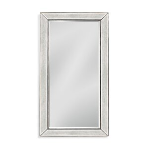 Rectangle Antique Silver Asian Hardwood Wall Mirror