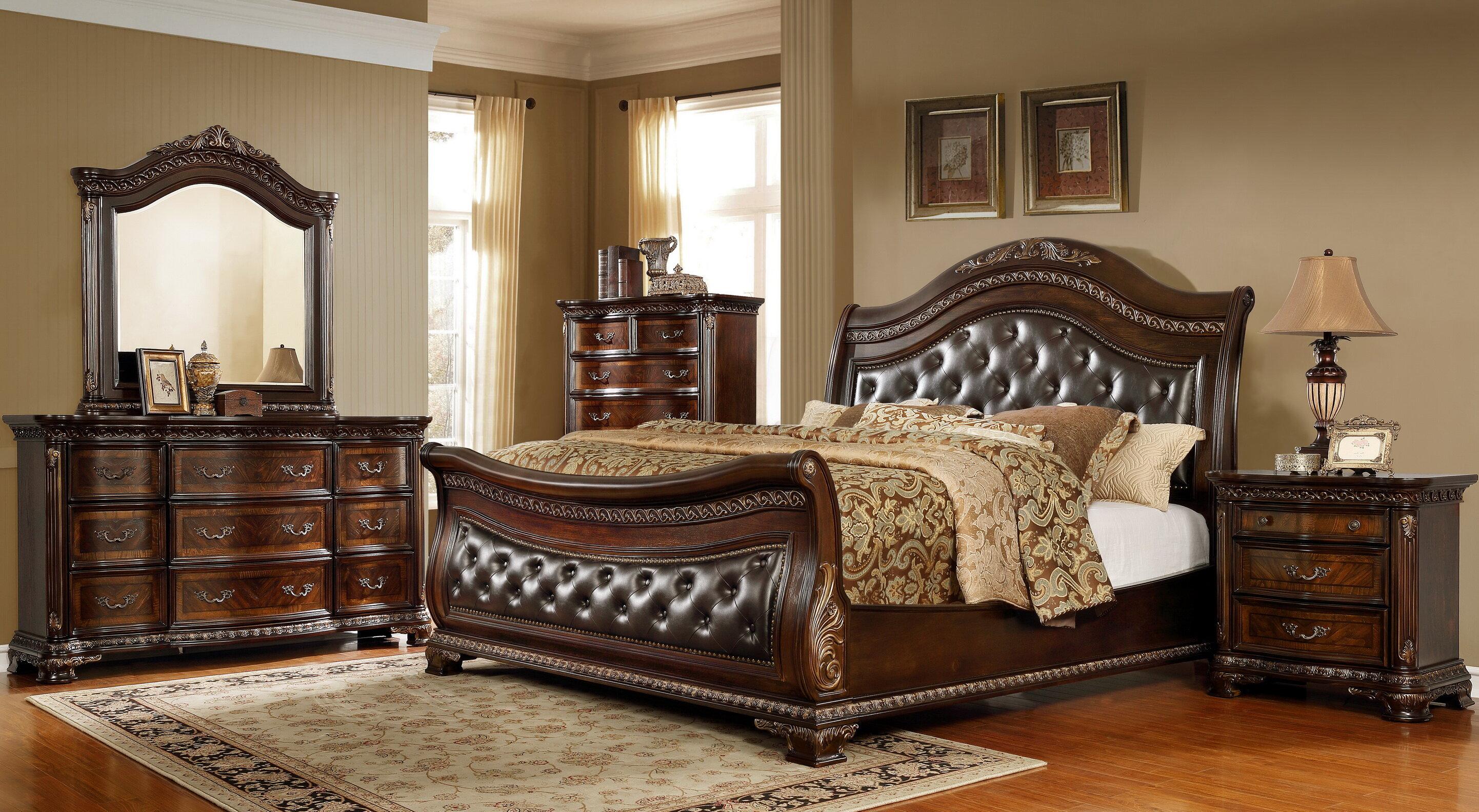 Astoria Grand Prange Solid Wood 4 Piece Bedroom Set Reviews