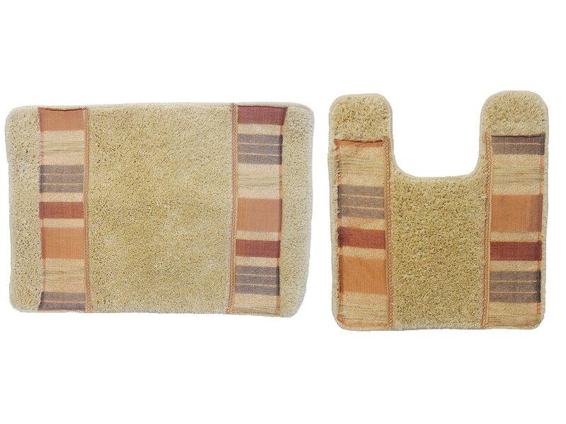 Winston Porter Anette Decorative Rectangle Non Slip Striped Piece Bath Rug Set Reviews Wayfair