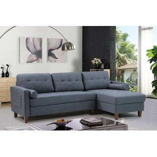 Weatherall Left Hand Facing Tufted Sectional by George Oliver SKU:BE694362 Shop