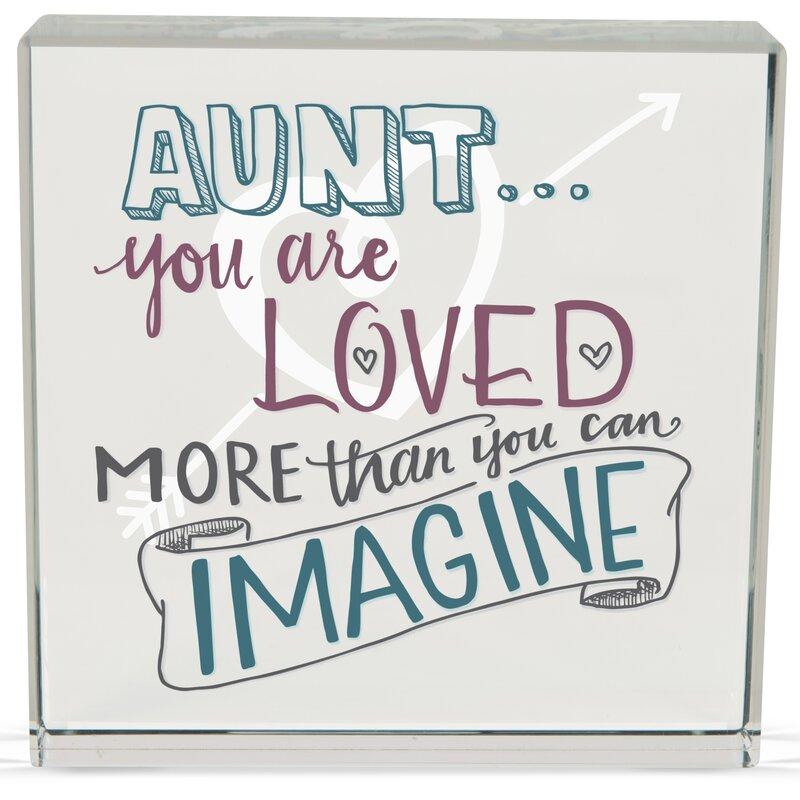 Angelstar Aunt Rachel Anne Textual Art Plaque Wayfair