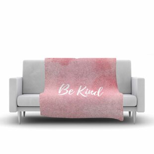 Compare & Buy Be Kind Fleece Blanket By East Urban Home