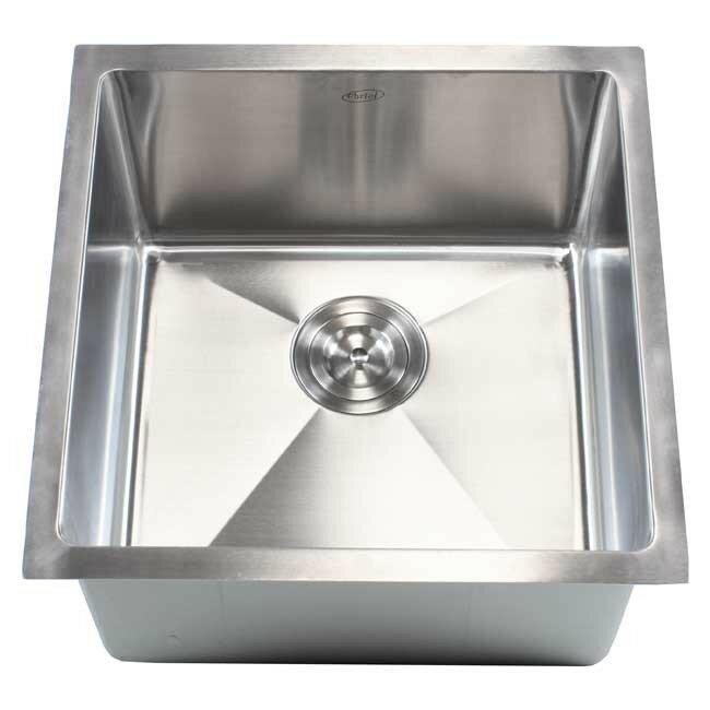 ariel 18   x 18   single bowl undermount kitchen sink emodern decor ariel 18   x 18   single bowl undermount kitchen sink      rh   wayfair com
