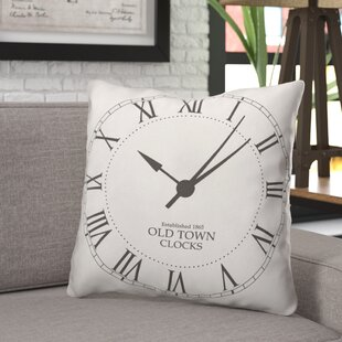 Burdick Vintage Clock Face Throw Pillow