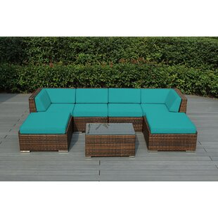 Baril 7 Piece Sofa Set With Cushions by Wade Logan