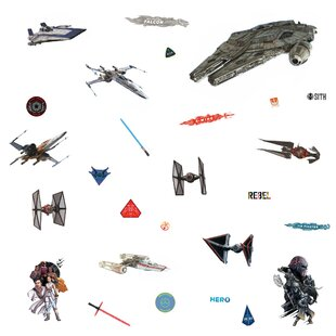 Star Wars Episode IX Galactic Ships Peel and Stick Wall Decal