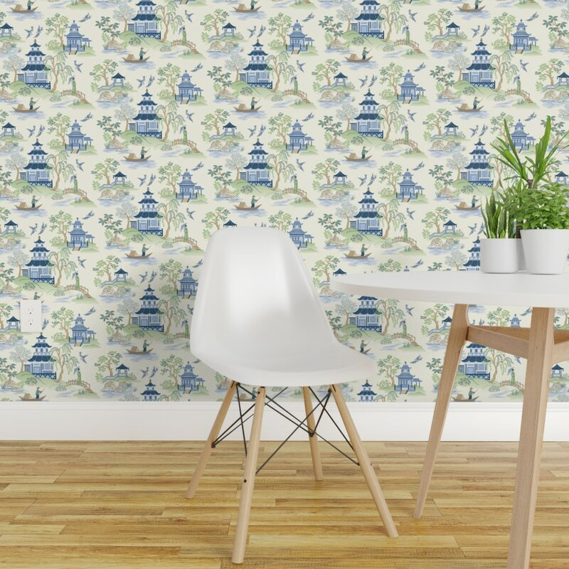 World Menagerie Kafton Chinoiserie Removable Wallpaper Panel Wayfair