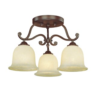 Beau 3-Light Semi Flush Mount by Fleur De Lis Living