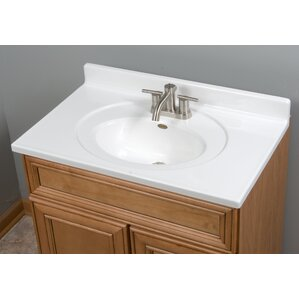 sink top for vanity. Recessed Center Oval Bowl 31  Single Bathroom Vanity Top Tops You ll Love Wayfair