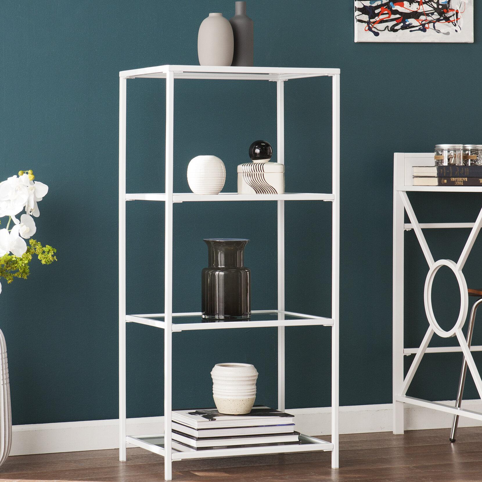 Ebern Designs Orenstein 4-Tier Etagere Bookcase   Wayfair