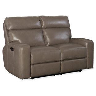 Mowry Power Motion Leather Reclining Loveseat