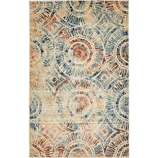 Jani Beige Abstract Area Rug by Bloomsbury Market