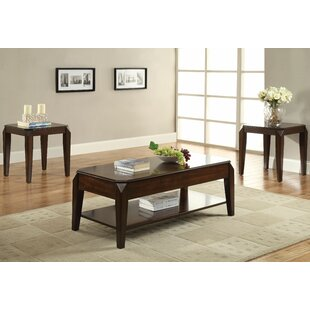Darby Home Co Palou 3 Piece Coffee Table Set