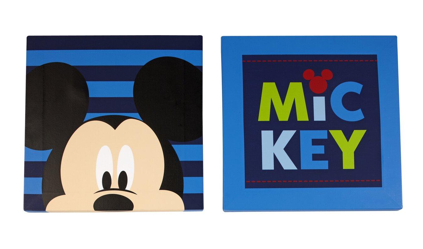 Disney Baby Mickey Mouse Canvas Art (Set of 2) & Reviews | Wayfair