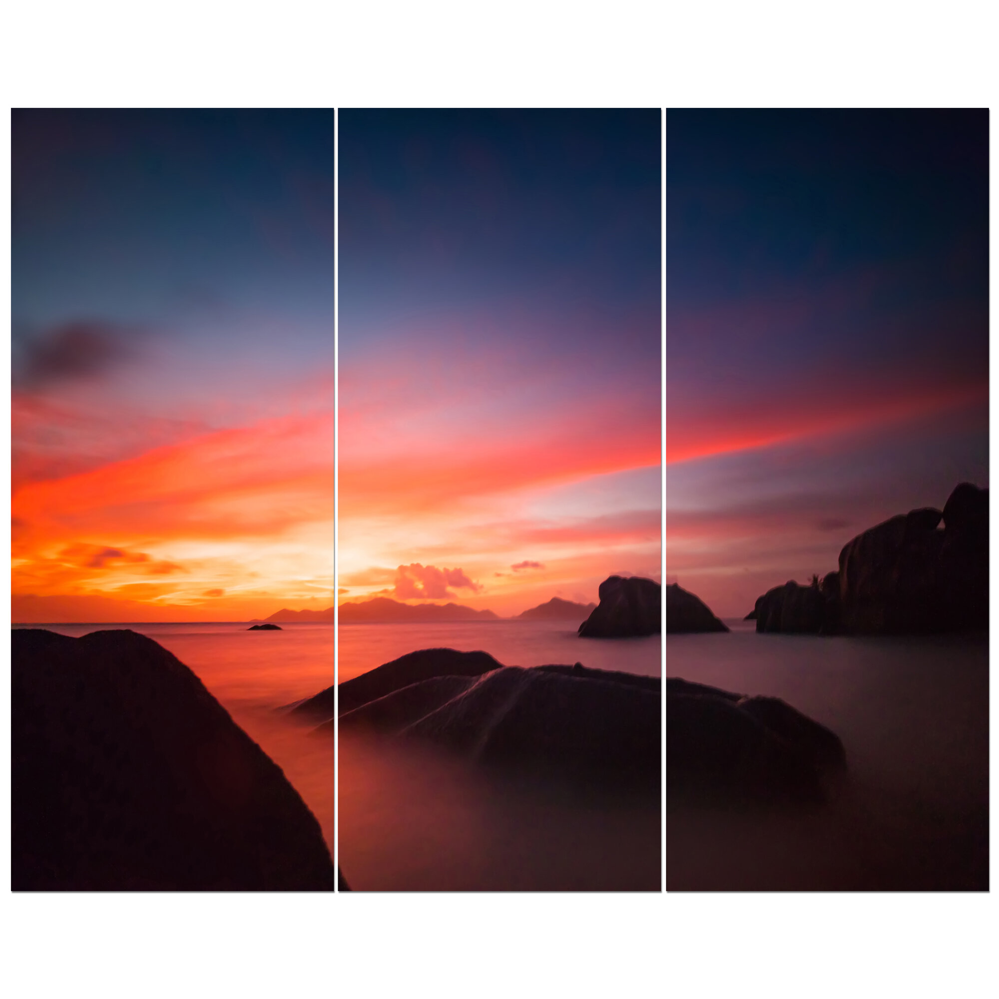 East Urban Home Dramatic Late Sunset Photographic Print Multi Piece Image On Wrapped Canvas Wayfair