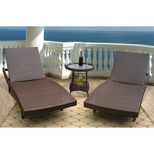 Wicker Warehouse Siesta Chaise Lounge (Set of 2)