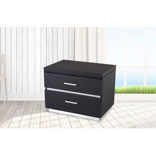 Kyng 2 Drawer Nightstand by Orren Ellis