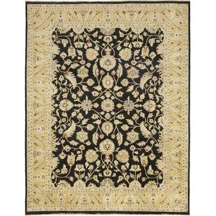 One-of-a-Kind Devan Hand-Knotted Wool Black/Beige Indoor Area Rug Isabelline