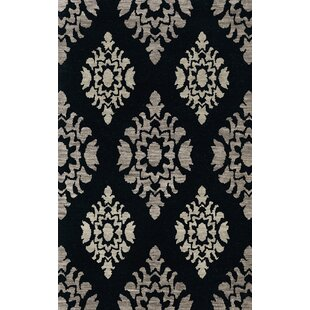 Compare Bella Machine Woven Wool Black/Gray Area Rug By Dalyn Rug Co.