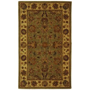 Cranmore Hand-Tufted Wool Green/Gold Area Rug