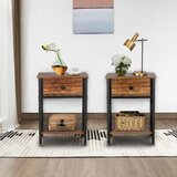 Urbana 1 - Drawer Iron Nightstand (Set of 2)