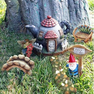 Mostajo 6 Piece Fairy Garden Set