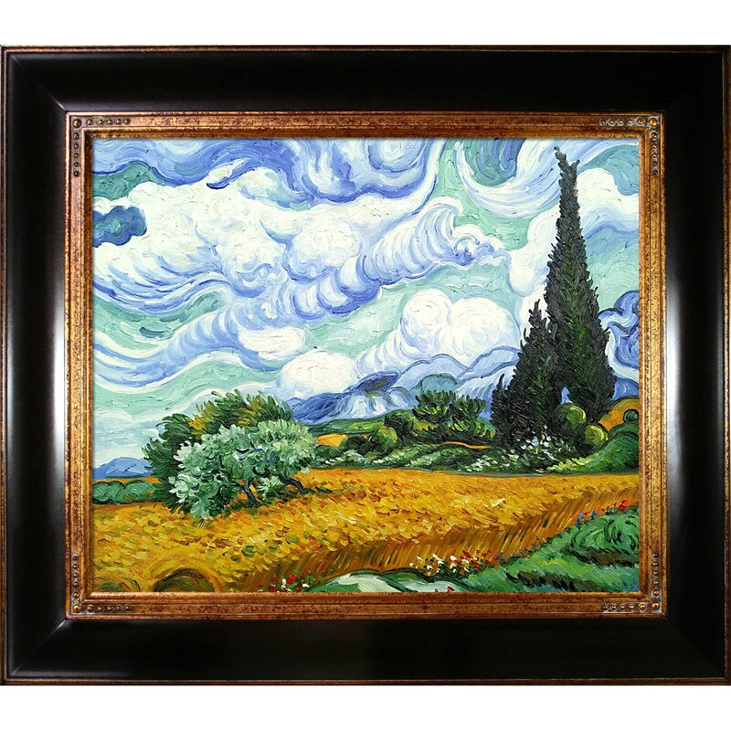 Art Official Website Wheat Field With Cypruses Painting By Vincent Van Gogh Art Reproduction